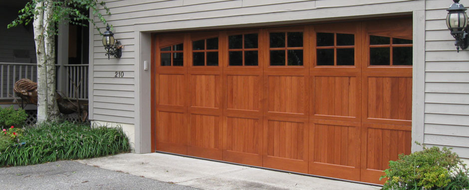 Wooden Panel Garage Door